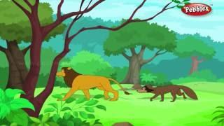 Fox and Lion Jataka Tales in English Moral Stories For
